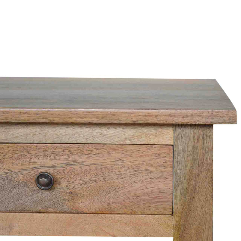 Handcrafted Solid Wood Coffee Table With 4 Drawers - HM_FURNITURE