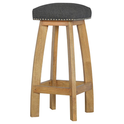 Handcrafted Studded Bar Stool - HM_FURNITURE