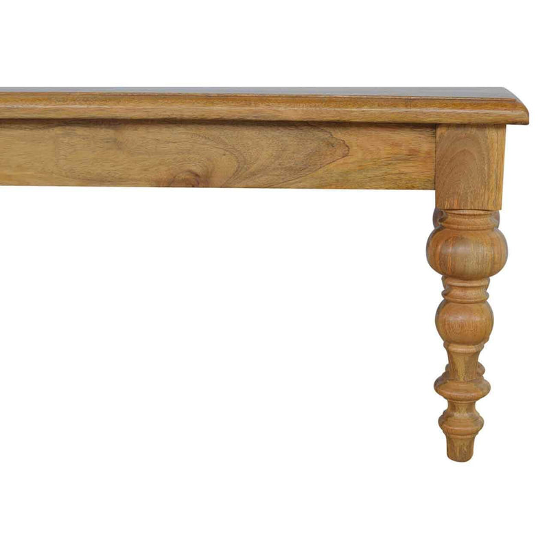 Handcrafted Bench With Turned Legs - HM_FURNITURE