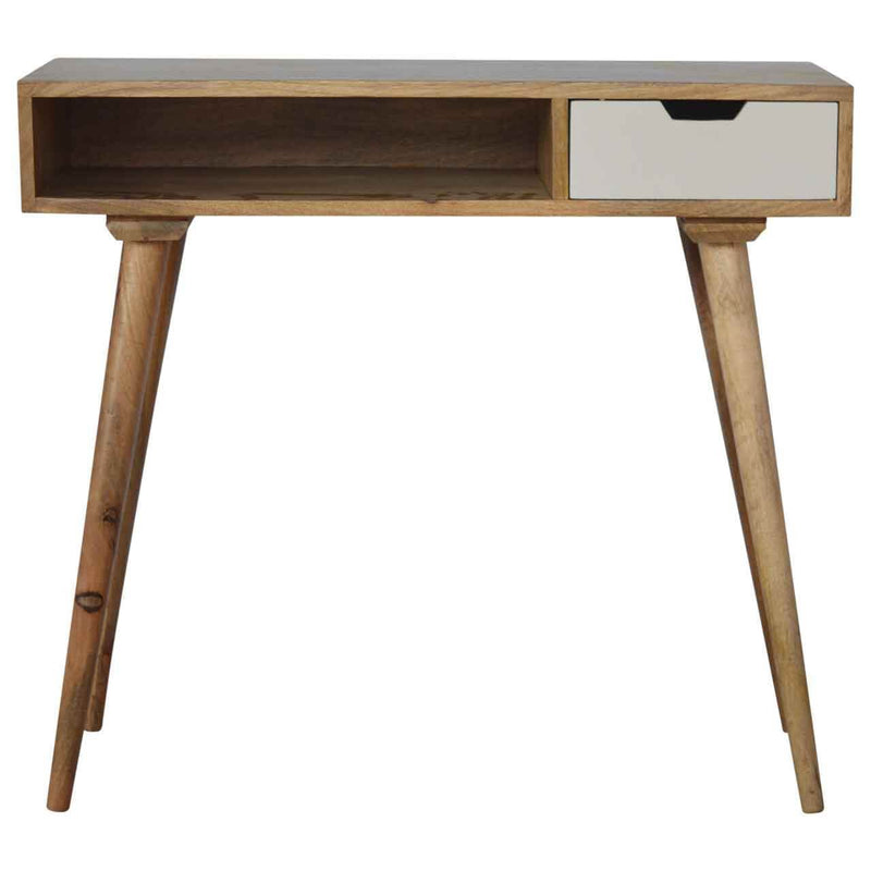 Handcrafted Desk With One Painted Drawer and Open Slot - HM_FURNITURE