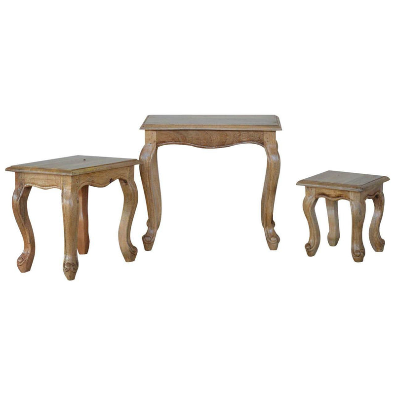 Handcrafted French Style Nested Stools - HM_FURNITURE