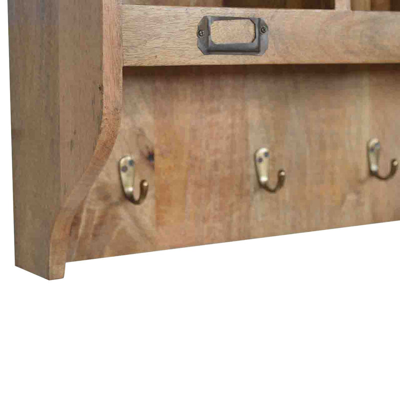 Wall Mounted Storage Unit With Antique Brass Handles - HM_FURNITURE