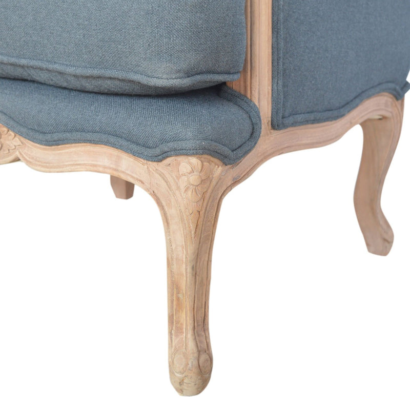 Handcrafted French Style Carved Armchair - HM_FURNITURE
