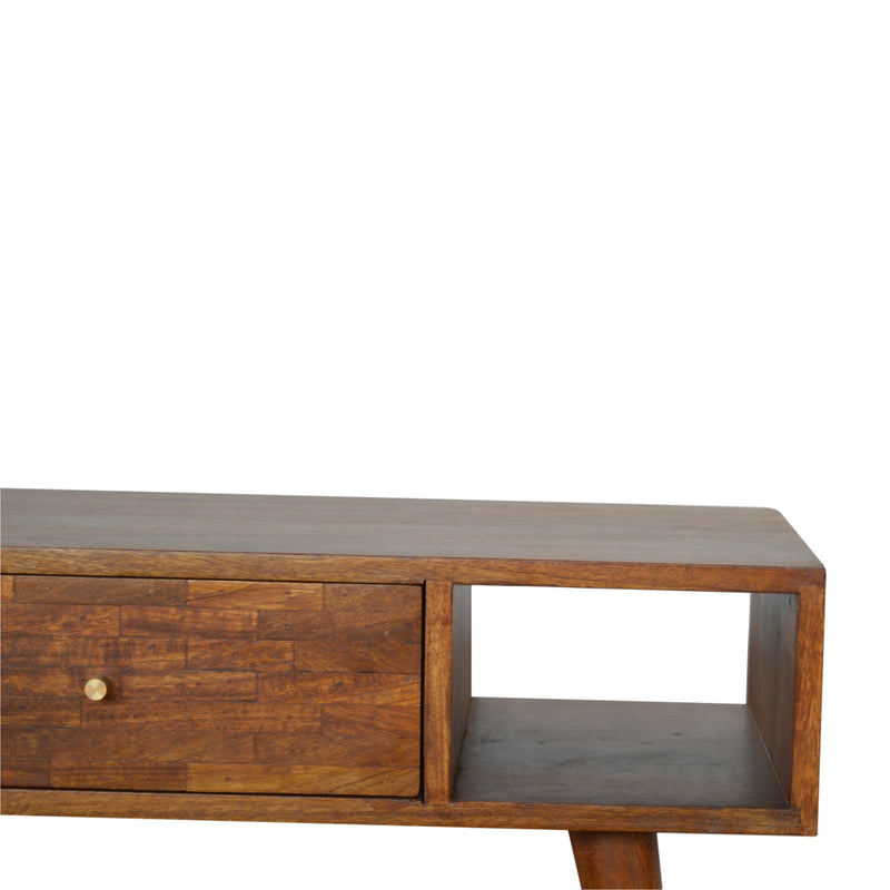 Patchwork 1 Drawer Coffee Table, Chestnut