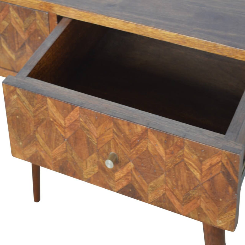 Handcrafted Assorted Console Table With 2 Drawers - HM_FURNITURE