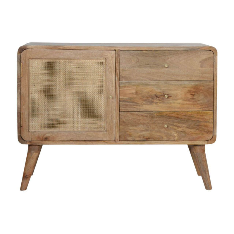 Handcrafted Woven Sideboard With 3 Drawers and 1 Door - HM_FURNITURE