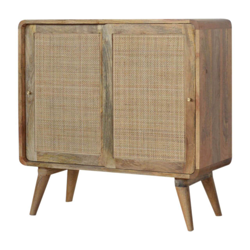 Handcrafted Woven Cabinet With 2 Sliding Doors - HM_FURNITURE
