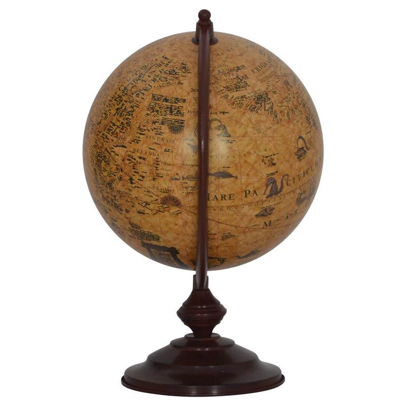 Handcrafted Solid Wood Vintage Globe - HM_FURNITURE