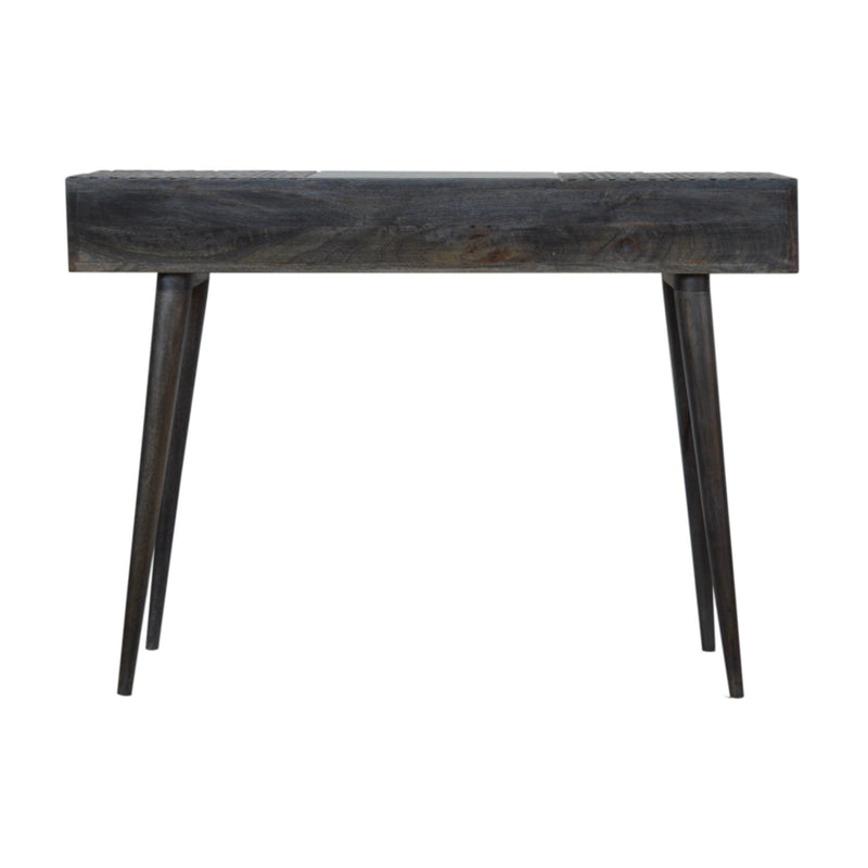 Ash Black Finish Console Table