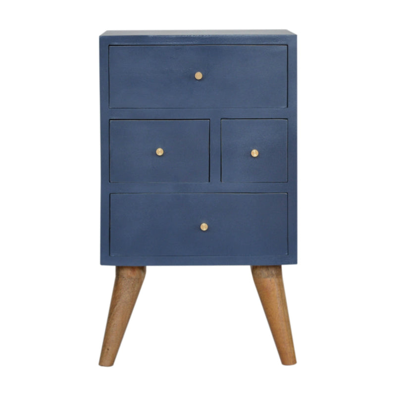 Cille - 4 Drawer Bedside, Blue