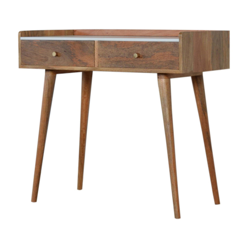 Marble Top 2 Drawers Console Table
