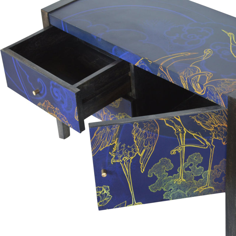 Night Bird UV Printed 1 Door 2 Drawer Media Unit