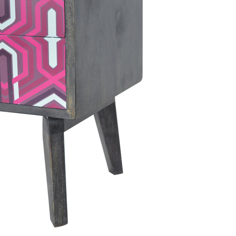 Handcrafted Pink Aztec Design Media Unit