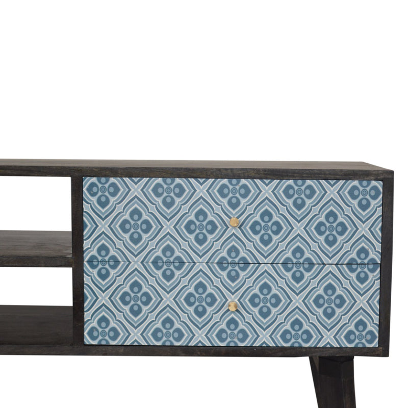 Blue UV Printed Design Media Unit