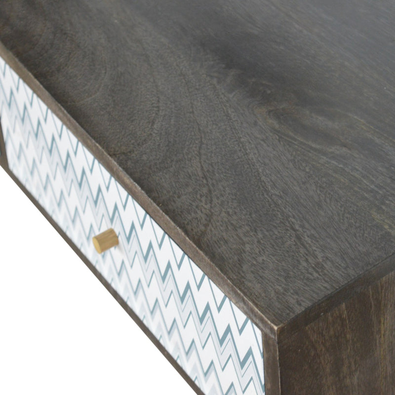 Handcrafted UV Printed 2 Drawer Console Table