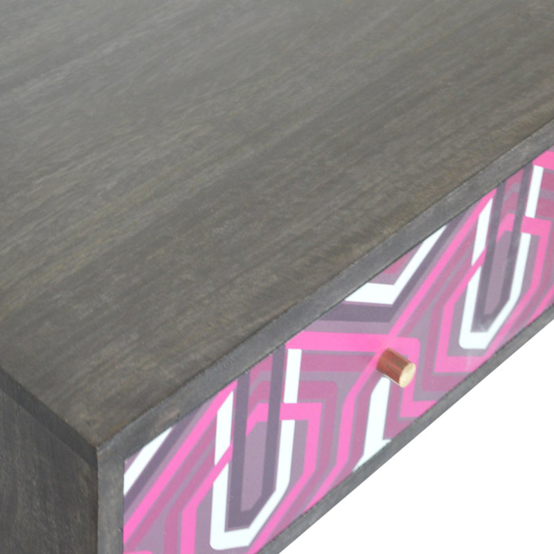 Pink Aztec Design Console Table