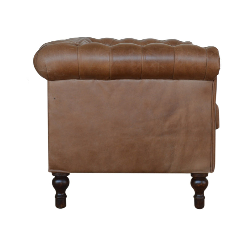 Brown Leather Chesterfield Sofa