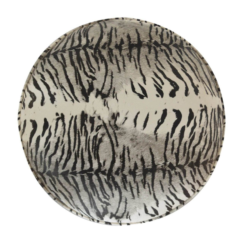 Handcrafted Zebra Print Foot Stool - HM_FURNITURE