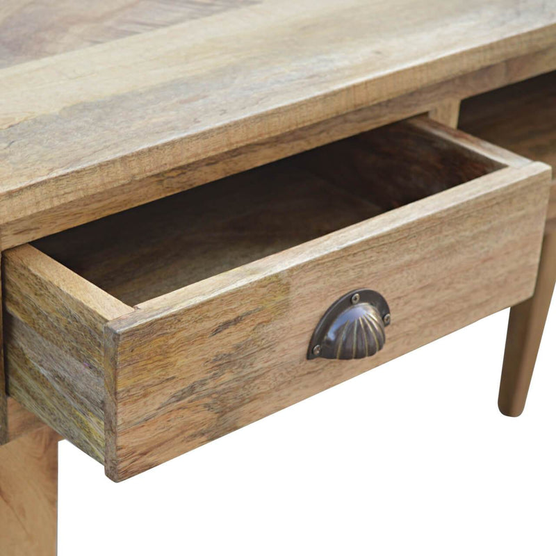Handcrafted Desk With 2 Drawers and 1 Open Slot - HM_FURNITURE