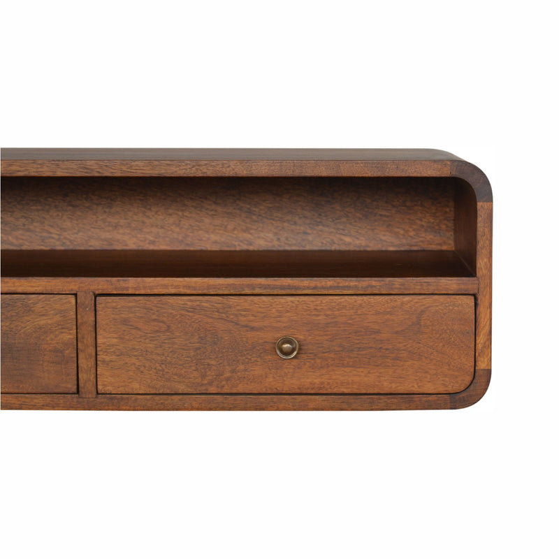 Wall Mounted Console Table, Chestnut
