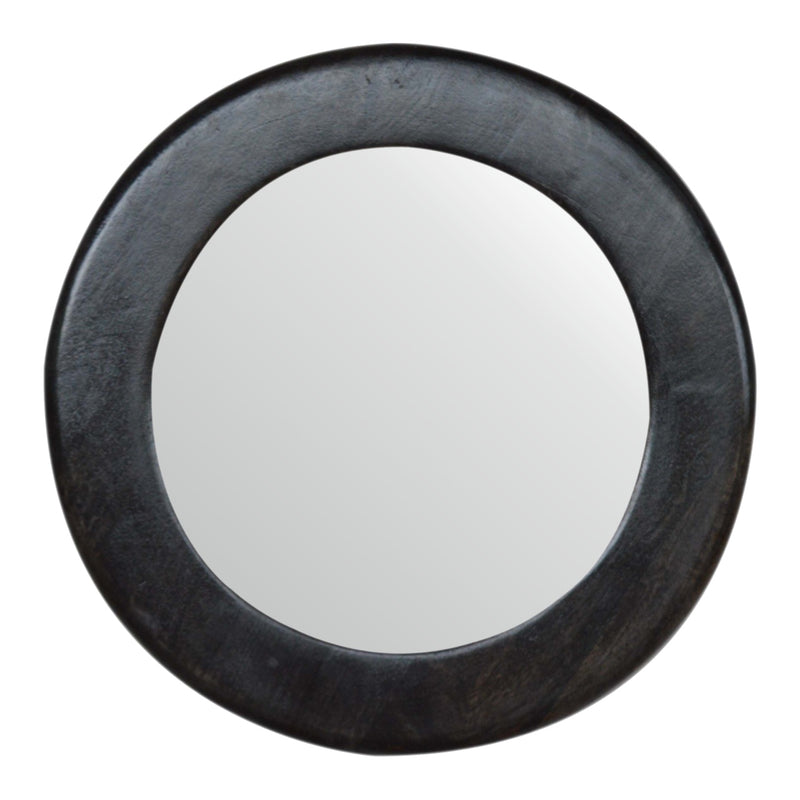 Anne - Round Mirror, Ash Black