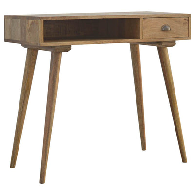 Handcrafted Nordic Style Desk With 1 Drawer and 1 Open Slot - HM_FURNITURE