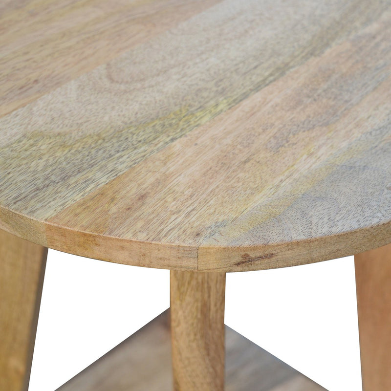 Handcrafted Bar Stool In Oak-Ish Finish - HM_FURNITURE