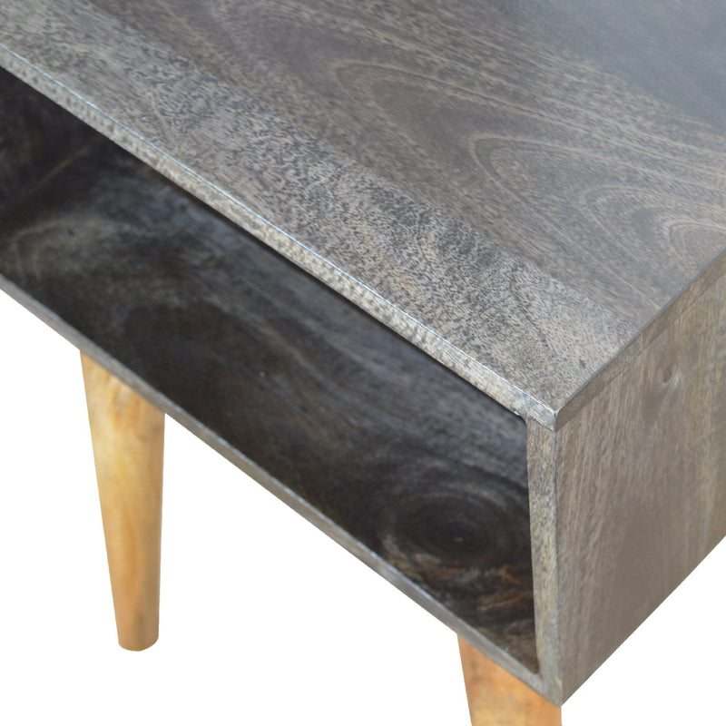 Ash Black Finish Open Bedside
