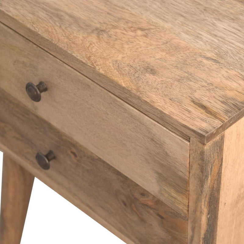 Handcrafted Modern Bedside Table With 2 Drawers - HM_FURNITURE