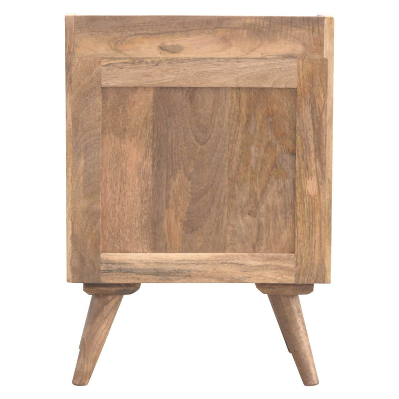 Handcrafted Modern Bedside Table With 3 Drawers - HM_FURNITURE