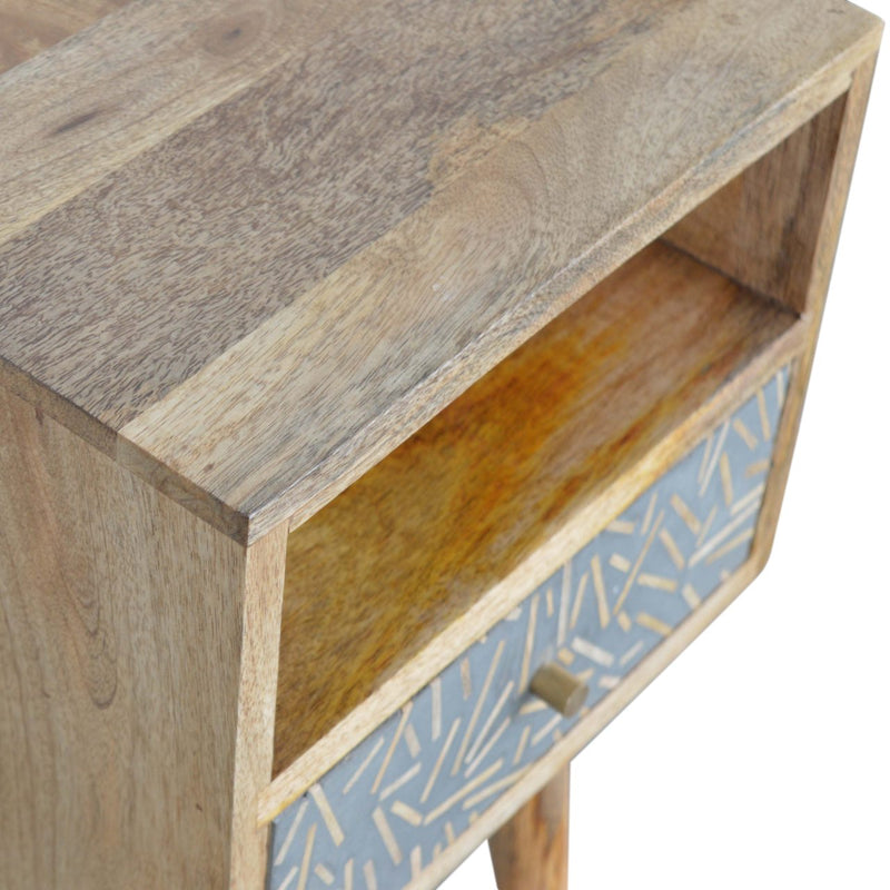 Chip Cement 1 Drawer Petite Bedside