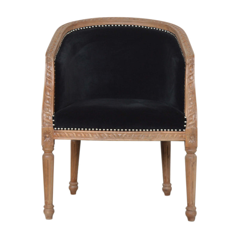 Black Velvet Occasional Chair