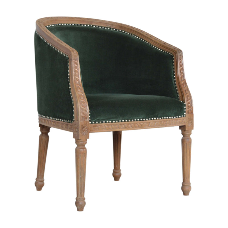 Emerald Green Velvet Occasional Chair