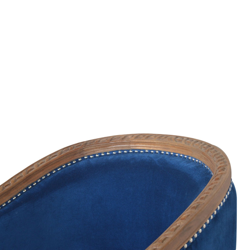 Royal Blue Velvet Occasional Chair