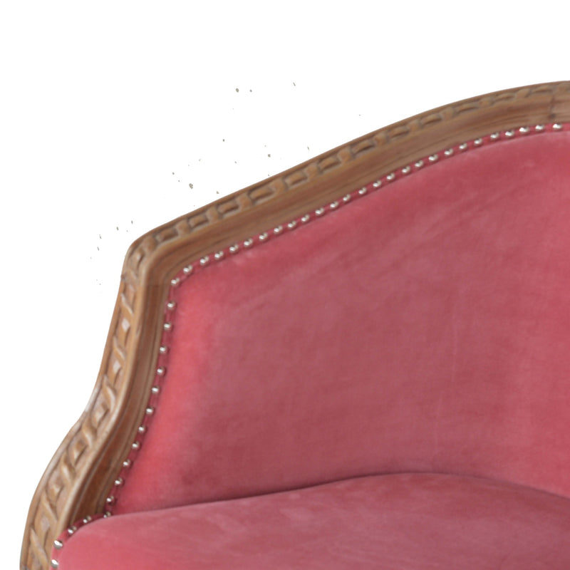 Pink Velvet Occasional Chair