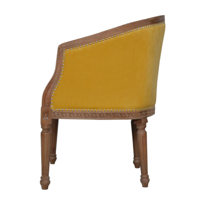 Mustard Velvet Occasional Chair