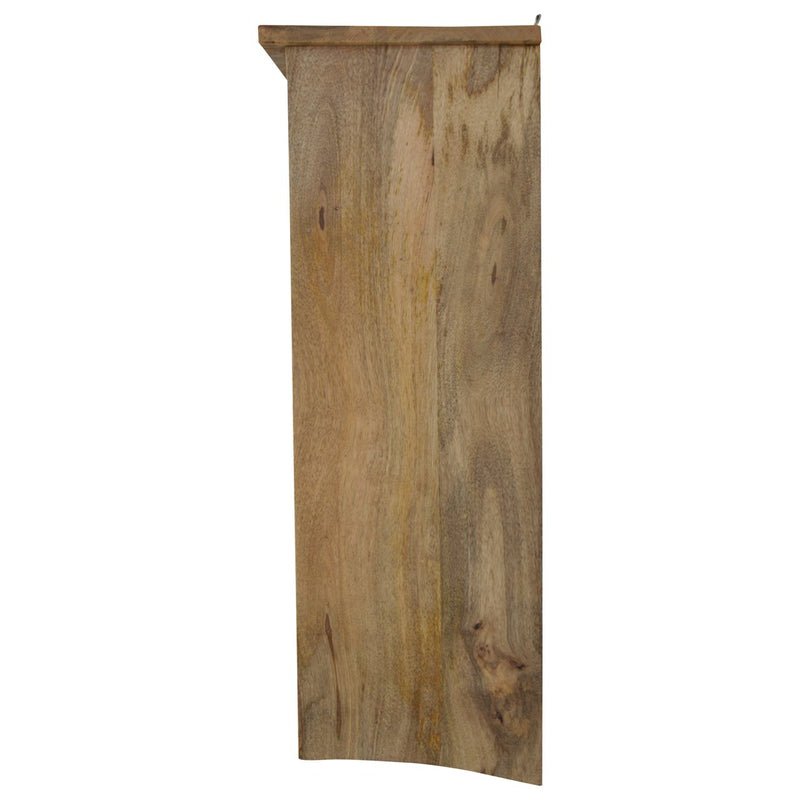 Mango Wood Wall Mounted Plate Rack - HM_FURNITURE