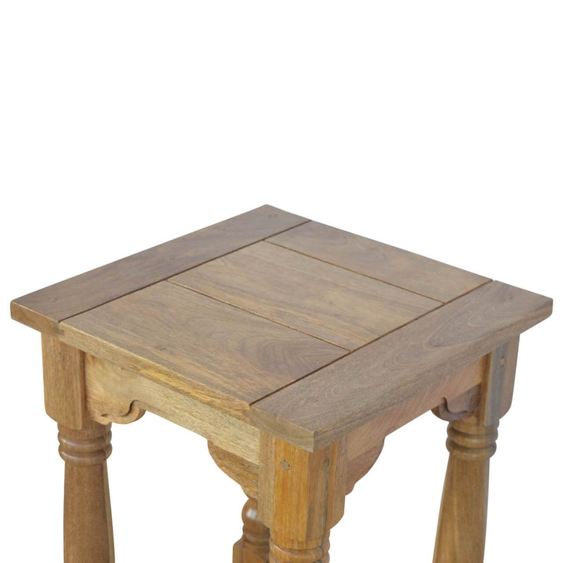 Handcrafted End Table With Natural Oak Finish - HM_FURNITURE
