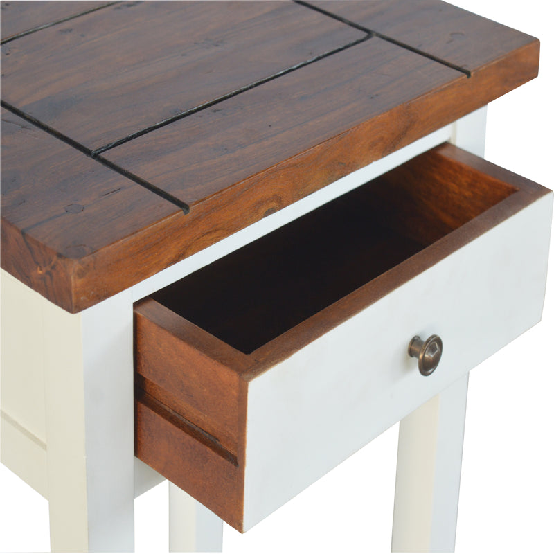 Handcrafted 2 Tone Acacia and Mango Wood Bedside