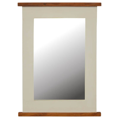 Handcrafted 2 Toned Solid Wood Mirror - HM_FURNITURE