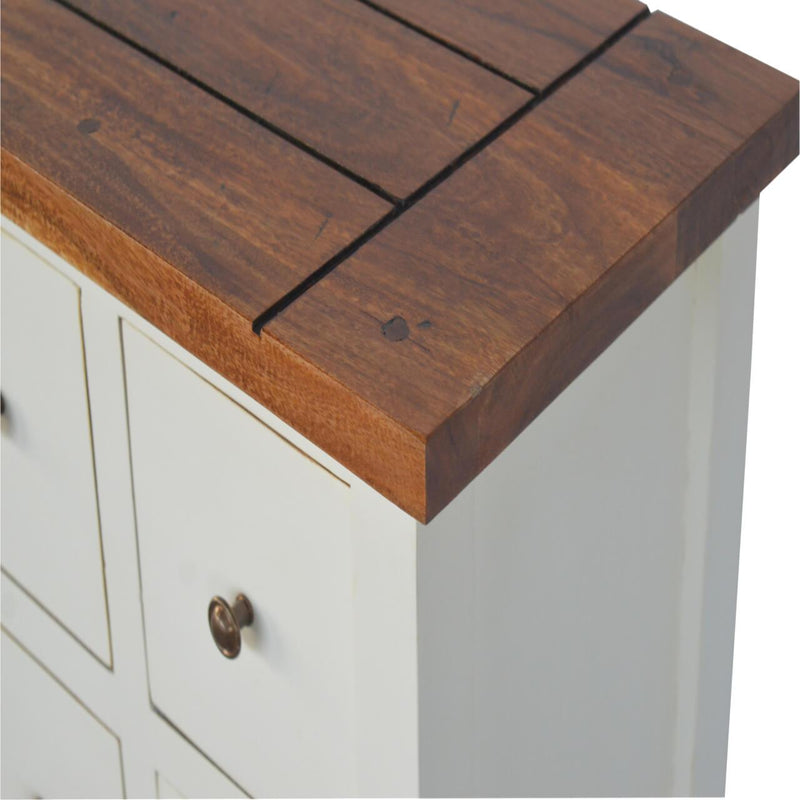 Handcrafted 2 Tone Storage Cabinet - HM_FURNITURE