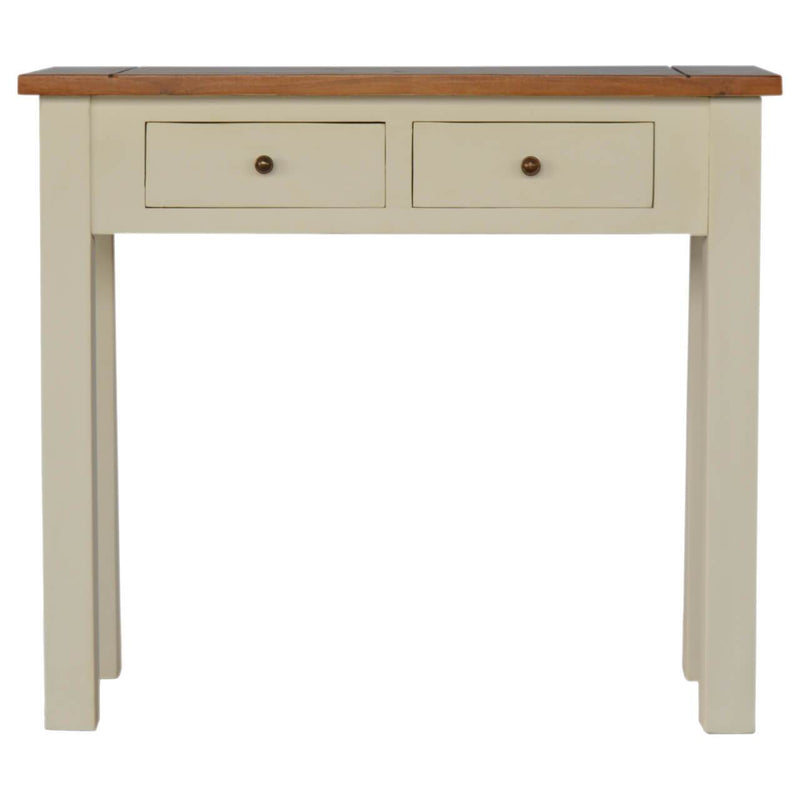 Handcrafted 2 Tone Finish Console Table - HM_FURNITURE