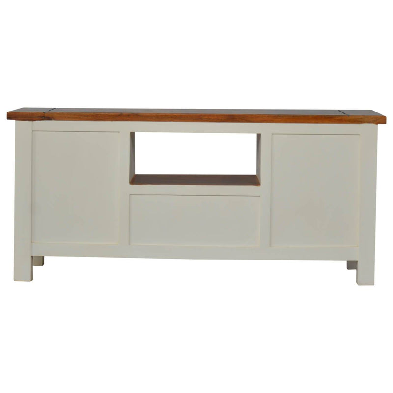 Handcrafted 2 Tone Media Unit - HM_FURNITURE