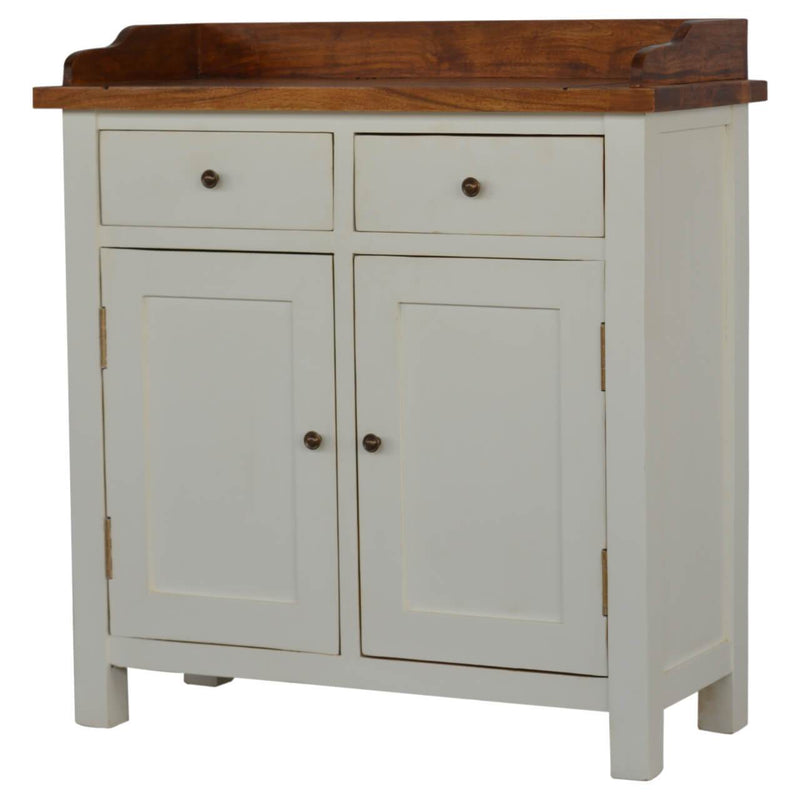 Handcrafted 2 Tone Kitchen Cabinet - HM_FURNITURE