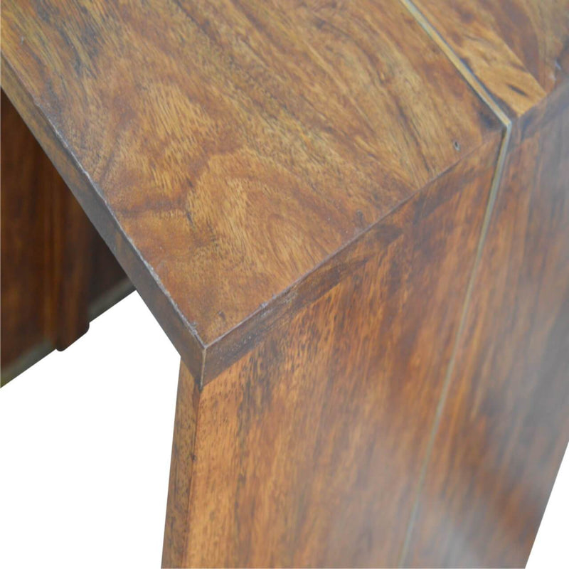 Handcrafted Solid Wood End-Tea/Side Table - HM_FURNITURE