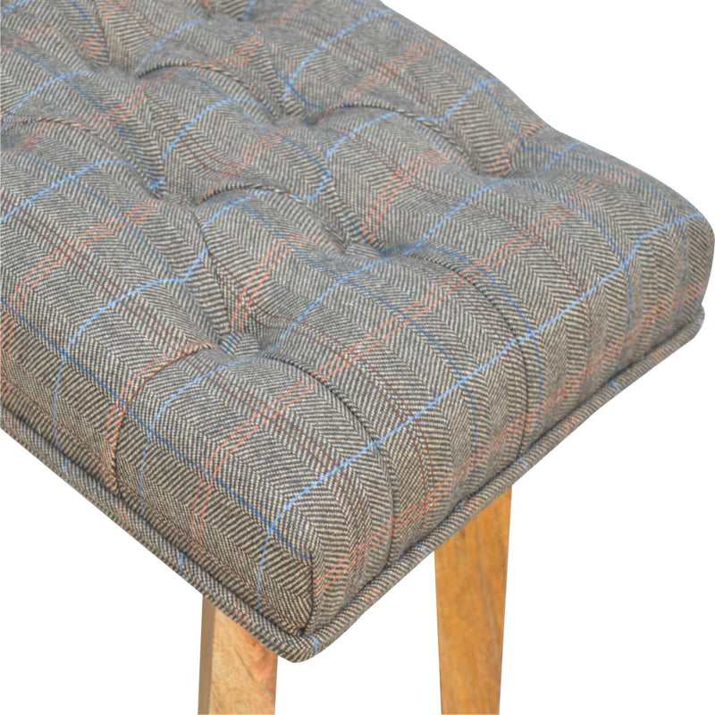 Multi Tweed Hallway Bench With 1 Drawer - HM_FURNITURE