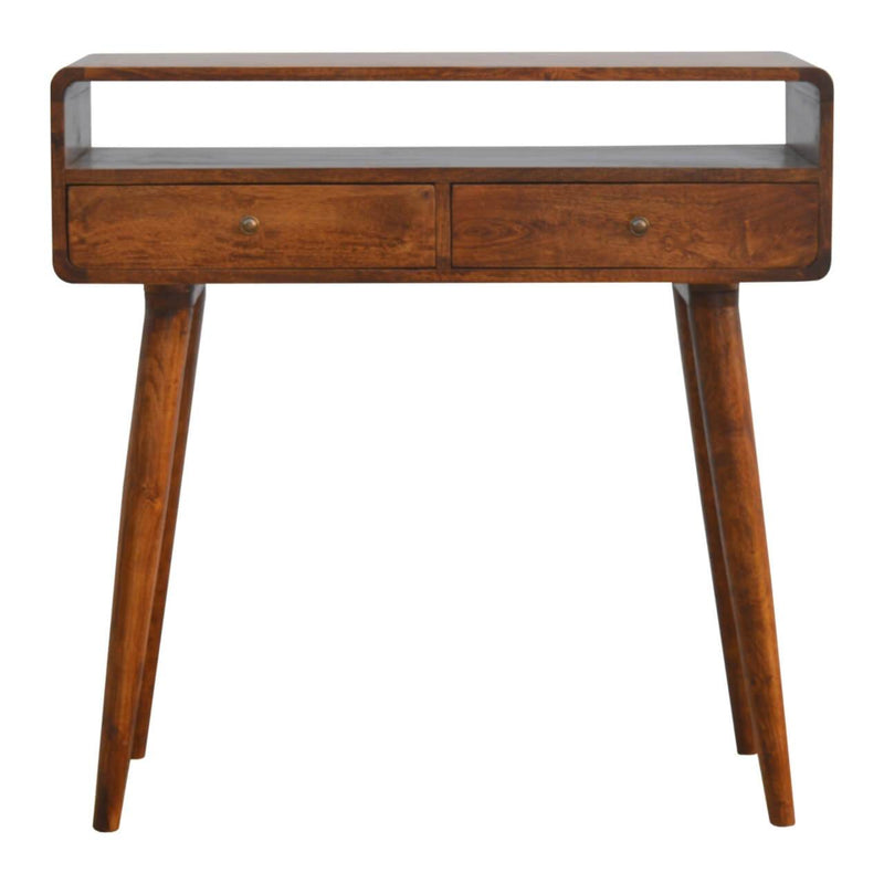 Handcrafted Console Table With 2 Drawers and 1 Open Slot - HM_FURNITURE
