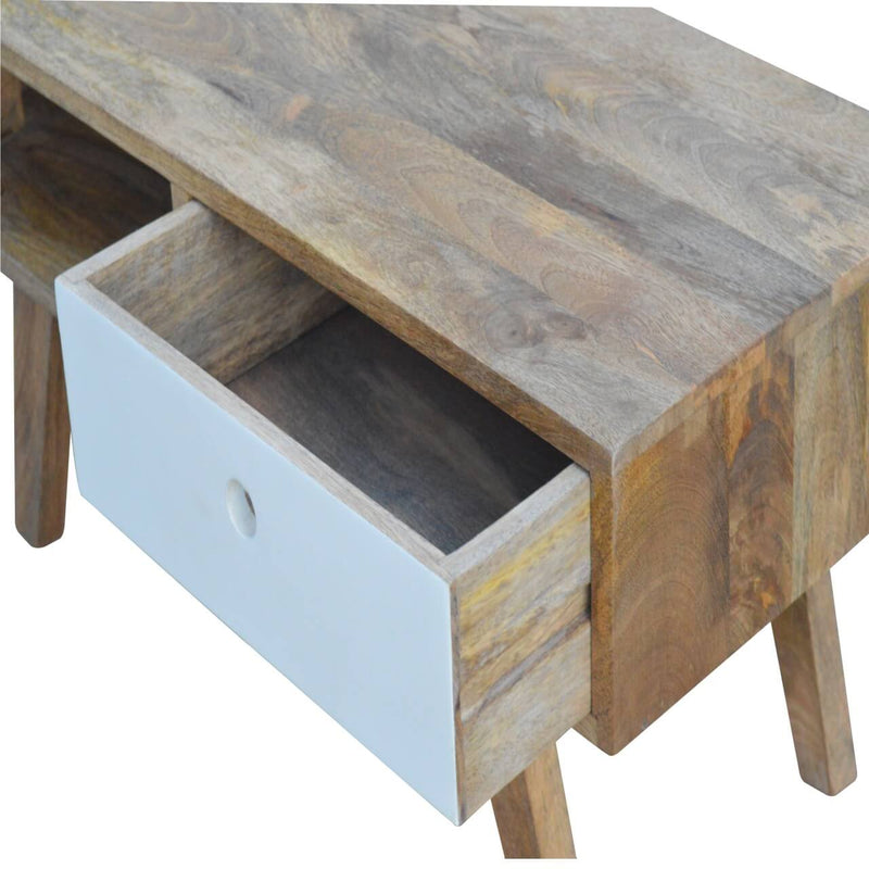 Handcrafted Media Unit With 1 Painted Drawer and 1 Open Slot - HM_FURNITURE