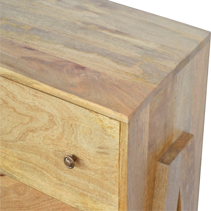 Handcrafted Oak-Ish Finish Chest With 3 Large Drawers - HM_FURNITURE