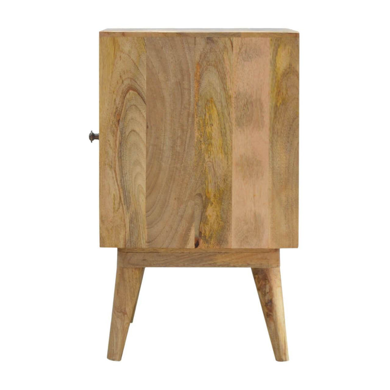 Handcrafted Bedside Table With Painted Door - HM_FURNITURE